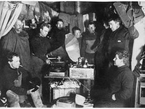 'Music in the Hut', Scott's South Pole expedition, 1911 by Herbert Ponting