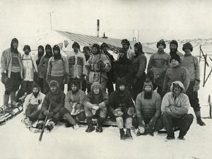 'The Main Party at Cape Evans After The Winter, 1911', (1913) by Herbert Ponting