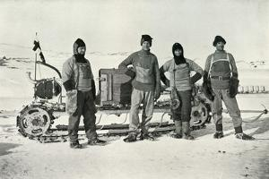 'The Motor Party (Left to right - Lashly, B.C. Day, Lieut. Evans, Hooper)', October 1911, (1913) by Herbert Ponting