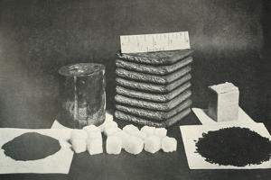 The Polar Party's Sledging Ration (Pemmican, biscuits, butter, cocoa, sugar and tea)', 1911 by Herbert Ponting