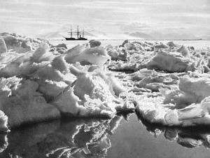 The Terra Nova in the Mc Murdo Sound, from Scotts Last Expedition by Herbert Ponting