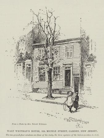 Walt Whitman's House, 328, Mickle Street, Camden, New Jersey