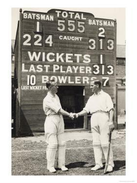 Herbert Sutcliffe and Percy Holmes Score a Record Opening Partnership of 555