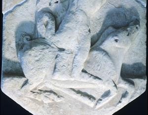 Hercules Carrying an Erymanthian Boar, Votive Relief, Detail