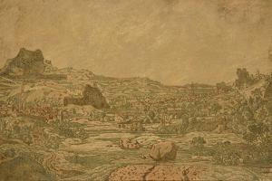 Town with Four Towers, C.1631 or Later by Hercules Segers
