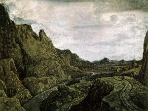 Rocky Valley with a Road, 17th Century by Hercules Seghers