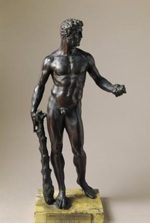 Hercules with Club and Apples of Hesperides, Bronze Statuette by Baccio Bandinelli