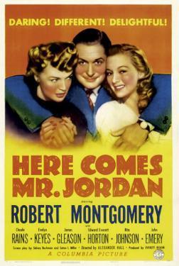 Here Comes Mr. Jordan, Rita Johnson, Robert Montgomery, Evelyn Keyes, 1941