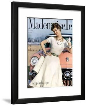 Mademoiselle Cover - April 1954 by Herman Landshoff