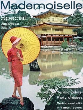 Mademoiselle Cover - December 1958 by Herman Landshoff