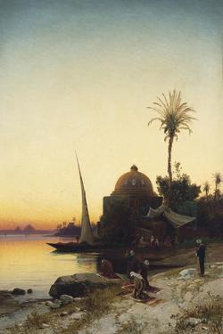 Praying to Mecca by Hermann David Salomon Corrodi