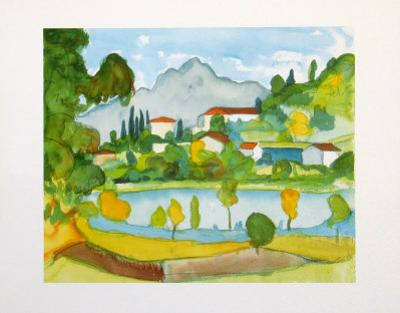 Montain Village in the Tessine at the Lake Agno by Hermann Hesse