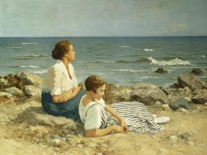 On the Beach by Hermann Seeger