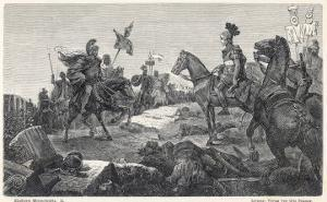 Second Punic War Scipio Africanus Meets Hannibal Before Defeating Him at Zama in North Africa by Hermann Vogel