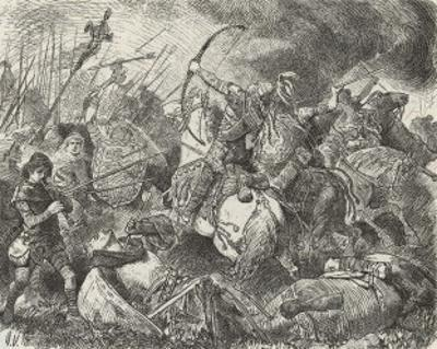The Huns Under Attila are Defeated by the Visigoths and Romans Commanded by Aetius at Chalons