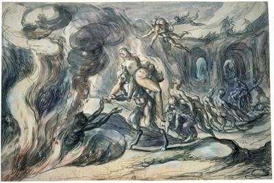 Eurydice in Hell, Early 17th Century by Hermann Weyer