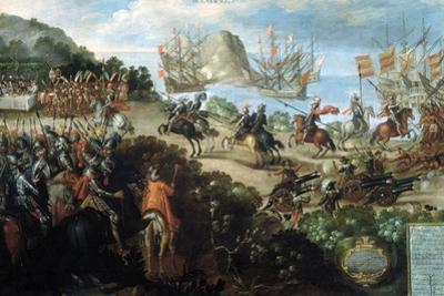 Hernando Cortes Landing at Veracruz, Spring 1519