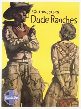 Southwestern Dude Ranches Poster by Hernando G. Villa