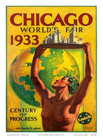 16x24 1930s Chicago World/'s Fair Century of Progress Vintage Poster