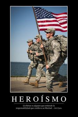 Heroísmo. Cita Inspiradora Y Póster Motivacional
