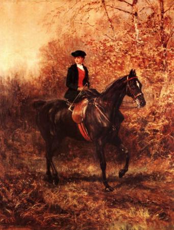 Girl Riding Side-Saddle