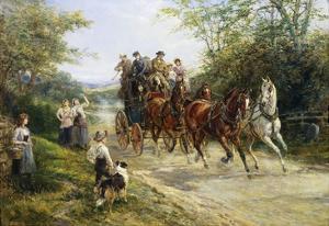 The London Coach by Heywood Hardy