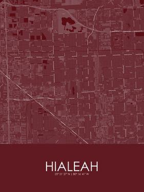 Hialeah, United States of America Red Map