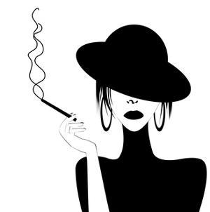Abstract Portrait of A Sexy Woman Smoking by hibrida13