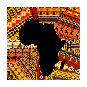 Africa Map On Ethnic Background by hibrida13