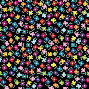 Seamless Background with Colored Flowers by hibrida13