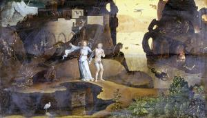 An Angel with a Soul at the Edge of Hell by Hieronymus Bosch