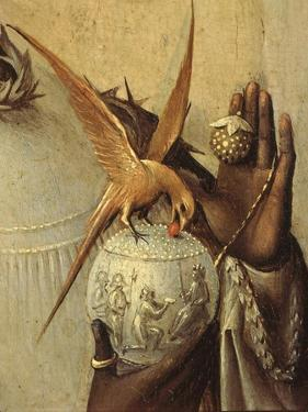 Bird Perching on Jewelled Globe, from Adoration of the Magi, Tripytch, C.1495 by Hieronymus Bosch