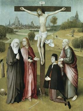 Christ Crucified with Donors and Saints, 1480-1485 by Hieronymus Bosch