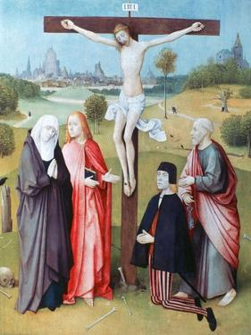 Christ on the Cross with Donors and Saints, C1480-1516 by Hieronymus Bosch