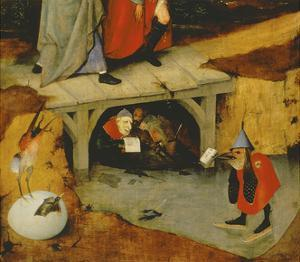 Detail from the Central Panel of Temptation of St. Anthony (Detail of 44162) by Hieronymus Bosch