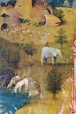 Garden of Earthly Delights-The Earthly Paradise by Hieronymus Bosch