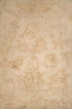 Grotesque Studies (Verso), 15th Century by Hieronymus Bosch