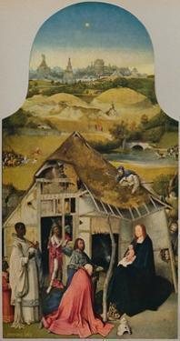 'La Adoracion de Los Reyes', (Adoration of the Magi), 1485-1500, (c1934) by Hieronymus Bosch