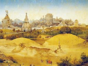 Landscape, Detail from Adoration of the Magi, 1510 by Hieronymus Bosch