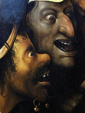 Mocking Faces, from Christ Carrying the Cross, C. 1490 (Detail) by Hieronymus Bosch