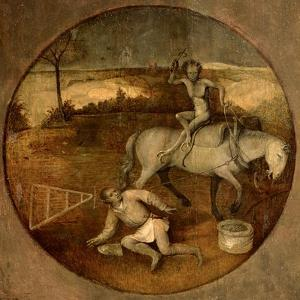 Ploughman Unhorsed by a Demon by Hieronymus Bosch