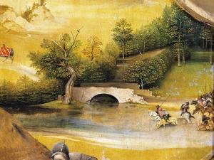 Riders Crossing a River, Detail from Adoration of the Magi, 1510 by Hieronymus Bosch