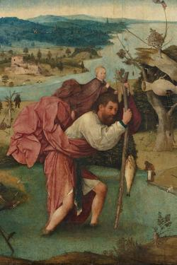 Saint Christopher, 1490S by Hieronymus Bosch