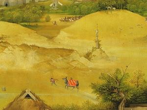 The Adoration of the Magi, Detail of Background Figures, 1510 (Detail of 3427) by Hieronymus Bosch