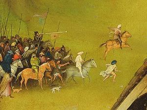 The Adoration of the Magi, Detail of the Background, 1510 (Detail of 3427) by Hieronymus Bosch