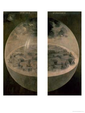 "The Creation of the World, Closed Doors of the Triptych ""The Garden of Earthly Delights,"" c. 1500 by Hieronymus Bosch"