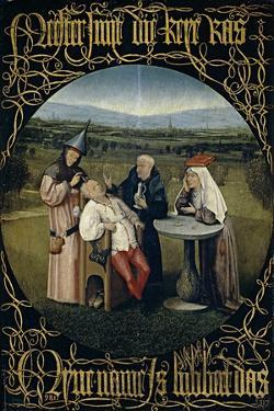 The Cure of Folly (Extraction of the Stone of Madnes), Between 1488 and 1516 by Hieronymus Bosch