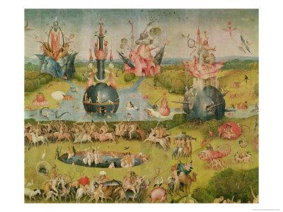 Exceptional The Garden Of Earthly Delights: Allegory Of Luxury, Central Panel Of  Triptych, Circa 1500Hieronymus Bosch. Giclee Print