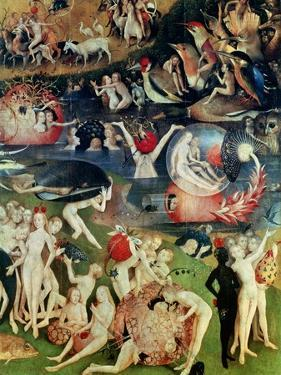The Garden of Earthly Delights: Allegory of Luxury, Detail of the Central Panel, circa 1500 by Hieronymus Bosch