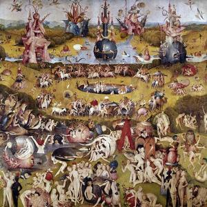 The Garden of Earthly Delights: Ecclesia's Paradise, 1503-1504, Dutch School by Hieronymus Bosch